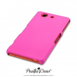 Coque pour Sony Xperia Z3 Compact rose touché gomme