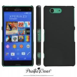 Coque pour Sony Xperia Z3 Compact noir mat touché gomme