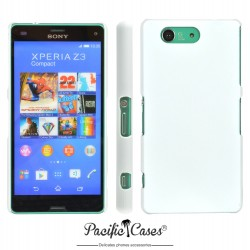 Coque pour Sony Xperia Z3 Compact blanche touché gomme
