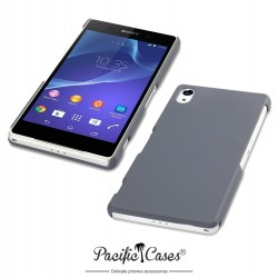 Coque grise touché gomme pour Sony Xperia Z2 Par Pacific Cases®