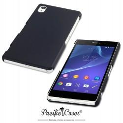 Coque noire touché gomme pour Sony Xperia Z2 Par Pacific Cases®