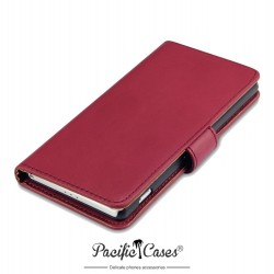 Etui rouge folio pour Sony Xperia Z2 Pacific Cases