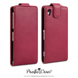 Etui rouge clapet pour Sony Xperia Z2 Pacific Cases