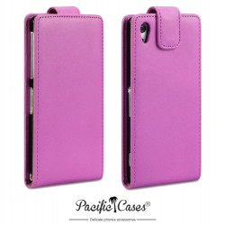 Etui rose clapet pour Sony Xperia Z2 Pacific Cases