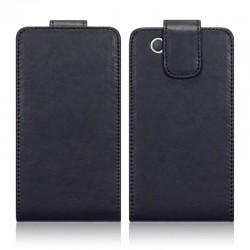 Etui noir à clapet pour Sony Xperia Z1 Compact