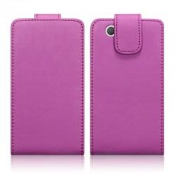 Etui rose à clapet pour Sony Xperia Z1 Compact