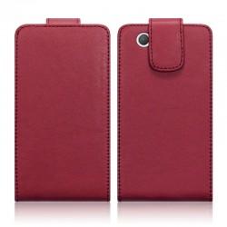 Etui rouge à clapet pour Sony Xperia Z1 Compact
