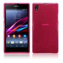 Coque rose translucide pour Sony Xperia Z1