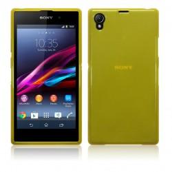 Coque jaune translucide pour Sony Xperia Z1