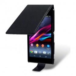 Etui noir ouverture clapet pour Sony Xperia Z1