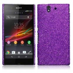 Coque strass violet pour Sony Xperia Z