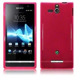 Coque rose translucide pour Sony Xperia U