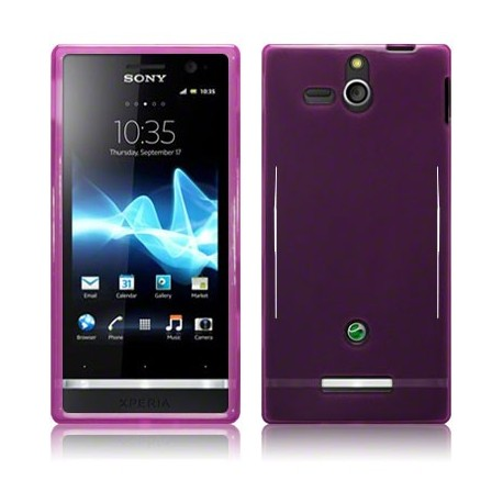 Coque pourpre translucide pour Sony Xperia U