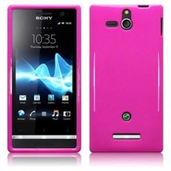 Coque souple rose brillant pour Sony Xperia U