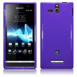 Coque souple pourpre brillant pour Sony Xperia U