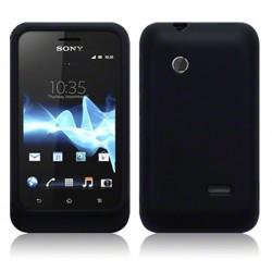 Coque silicone noire Sony Xperia Tipo
