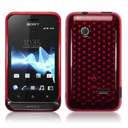 Coque rouge translucide pour Sony Xperia Tipo