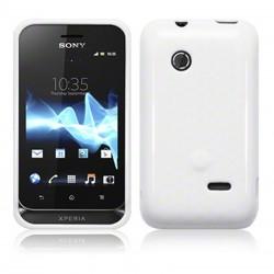 Coque blanc brillant souple pour Sony Xperia Tipo