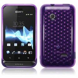 Coque violette translucide pour  Sony Xperia Tipo