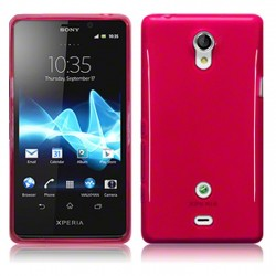 Coque rouge translucide pour Sony Xperia T