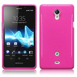Coque rose brillant pour Sony Xperia T