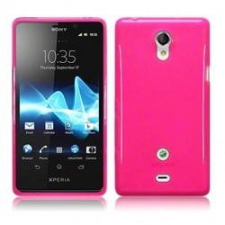 Coque rose translucide pour Sony Xperia T