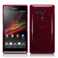 Coque rouge translucide pour Sony Xperia SP