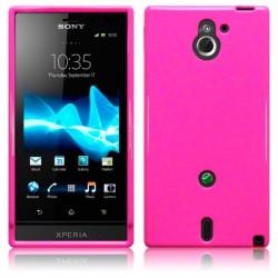 Coque rose brillant pour Sony Xperia Sola