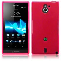Coque rose translucide pour Sony Xperia Sola