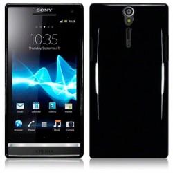 Coque noir fumé translucide pour Sony Xperia S