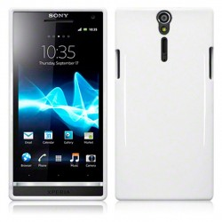 Coque blanche brillante souple pour Sony Xperia S