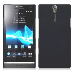 Coque noir mat  rigide pour Sony Xperia S
