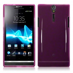 Coque violette translucide Sony Xperia S