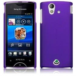 Coque rigide pourpre translucide pour Sony-Ericsson Xperia Ray