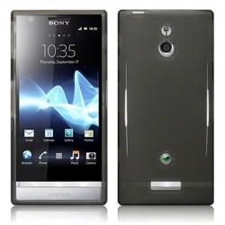 Coque noir fumé translucide pour Sony Xperia P