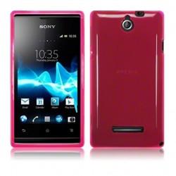 Coque rose translucide pour Sony Xperia E