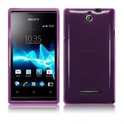 Coque violet translucide pour Sony Xperia E