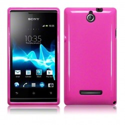 Coque rose brillant pour Sony Xperia E