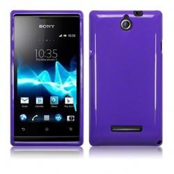 Coque violet brillant pour Sony Xperia E