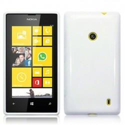 Coque blanc brillant pour Nokia Lumia 520