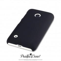 Coque pour Nokia Lumia 530 noire touché gomme
