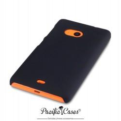 Coque pour Microsoft Lumia 535 noire touché gomme