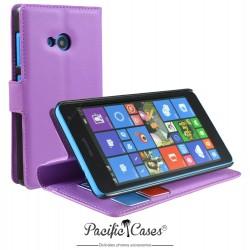 étui pour Microsoft Lumia 535 ouverture folio et fonction stand par Pacific Cases® - mauve
