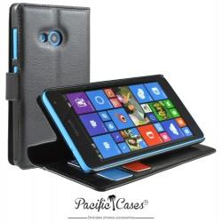 étui pour Microsoft Lumia 535 ouverture folio et fonction stand par Pacific Cases® - noir