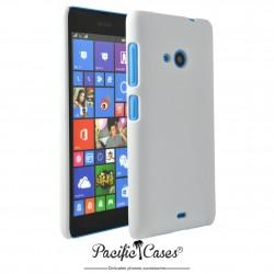 Coque pour Microsoft Lumia 535 touché gomme Pacific Cases - blanche