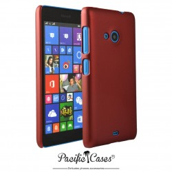 Coque pour Microsoft Lumia 535 touché gomme Pacific Cases - rouge
