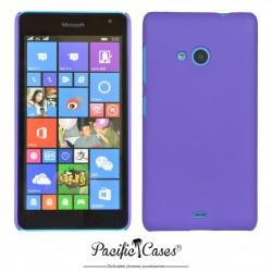 Coque pour Microsoft Lumia 535 touché gomme Pacific Cases - mauve