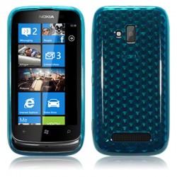Coque bleue translucide pour Nokia Lumia 610