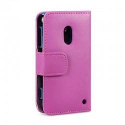 Etui rose ouverture porte-feuille pour Nokia Lumia 620