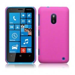 Coque rose mat rigide touché gomme pour Nokia Lumia 620